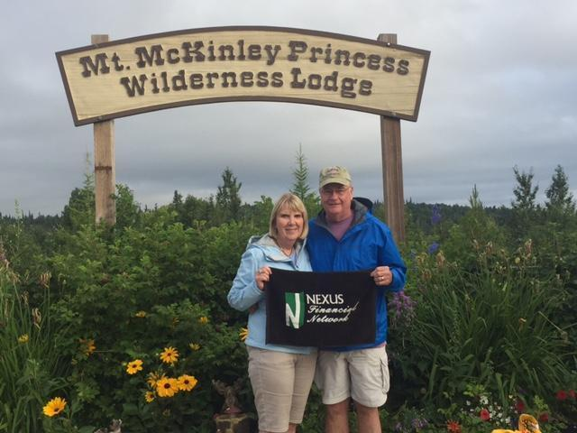Tom Richards and Susan Murray at Mt. McKinley